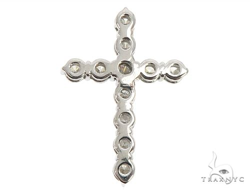 18k White Gold Diamond Cross Pendant 64576 Diamond