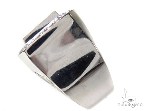 18k White Gold TraxNYC Invisible Mens Diamond Ring-39994 Style