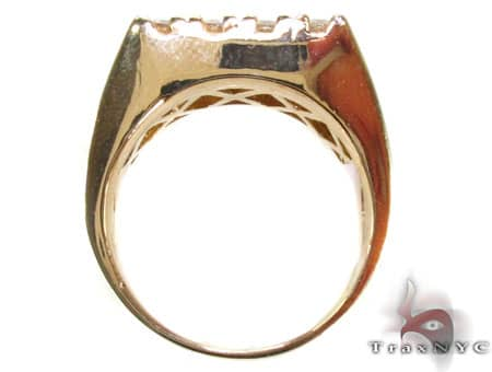 Mens Bold 12 Stone Gold Pinky Ring Stone