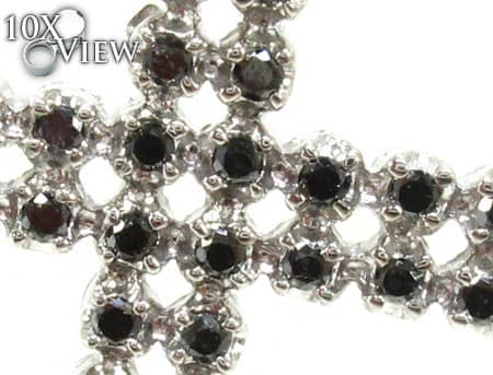 Black and White Gold Diamond Rosary Rosary