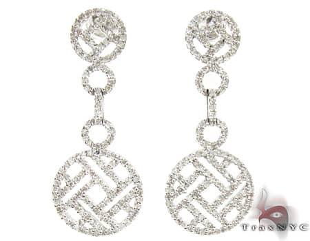 Ladies Diamond Earrings 19089 Stone