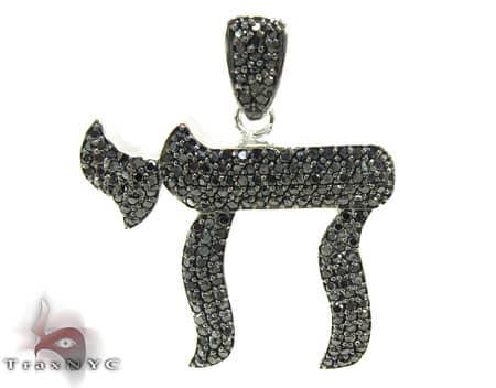 Custom Jewelry - Black Diamond Chai Pendant Metal