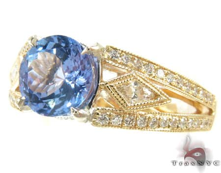 Diamond Tanzanite Ring Anniversary/Fashion
