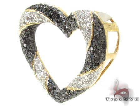 Zebra Heart Pendant Style