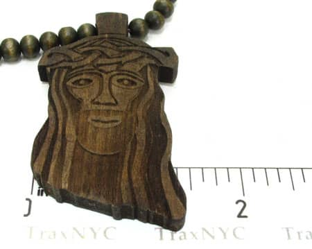 Small Brown Wood Jesus Piece
