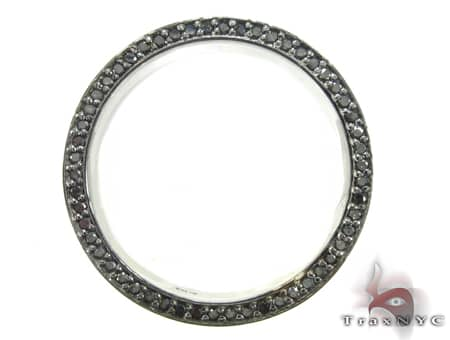 Black Gold Back Diamond Eternity Prong Ring Stone