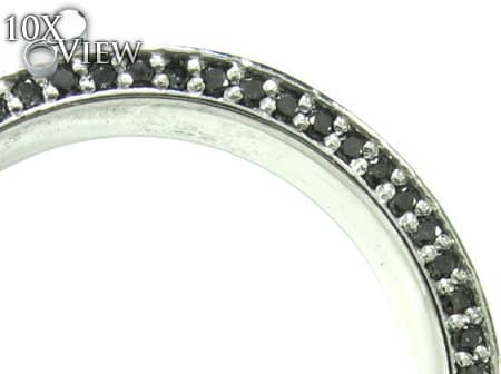 White Gold Back Diamond Eternity Prong Ring Stone