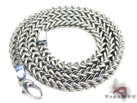 Stainless Steel Franco Chain 24 Inches, 6mm, 73.1 Grams Stainless Steel