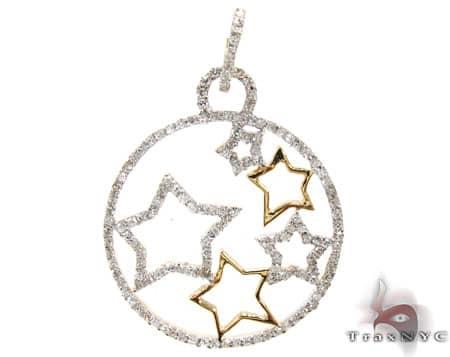 Ladies Star Way Pendant 2 Stone