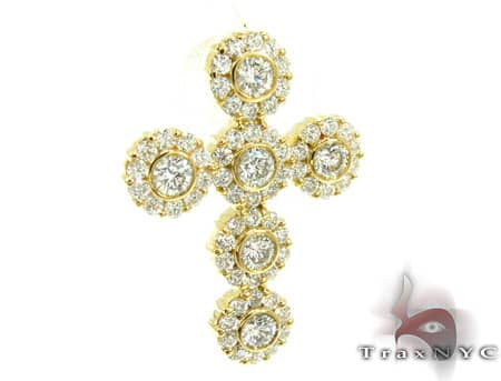 Small Diamond Cross Crucifix Pendant 19528 Style