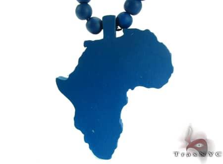 Blue Africa Wood Pendant