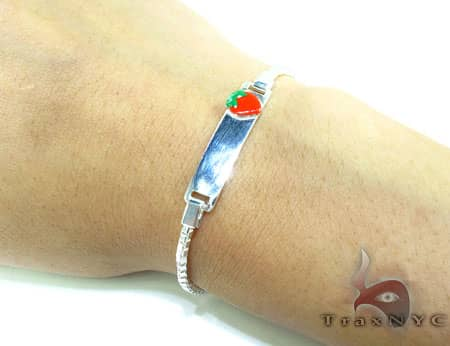 Childs Silver ID Bracelet 19601 Silver & Stainless Steel