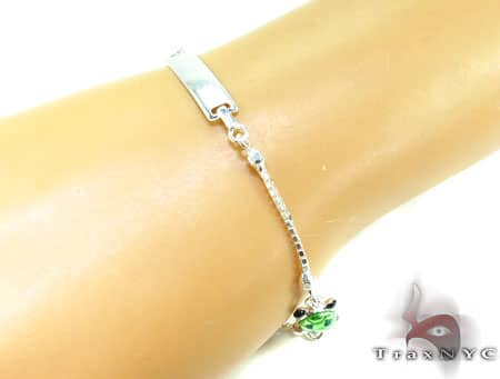 Childs Silver ID Bracelet 19604 Silver & Stainless Steel