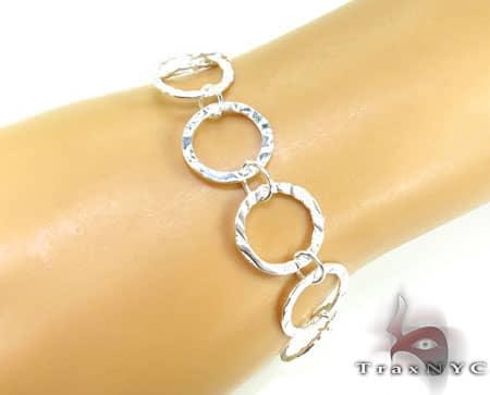 Ladies Silver Bracelet 19619 Silver & Stainless Steel