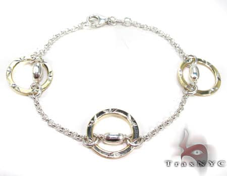 Ladies Silver Bracelet 19621 Silver & Stainless Steel
