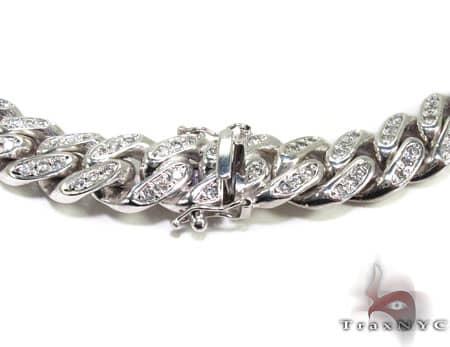 Diamond Miami Link Chain 22 Inches, 10mm, 220 Grams Diamond