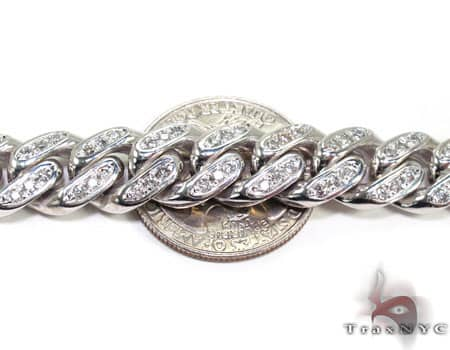 Diamond Miami Link Chain 30 Inches, 12mm, 249 Grams Diamond