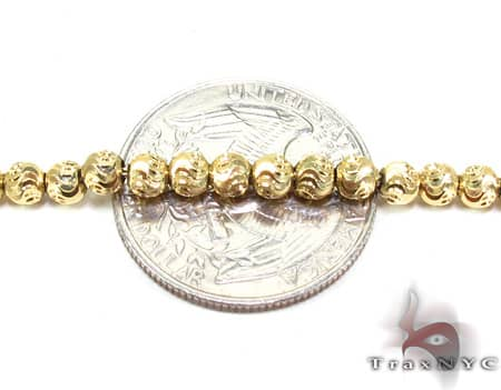 Yellow Gold Moon Cut Chain 20 Inches 3mm 13.60 Grams Gold