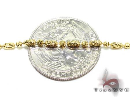 Thin Moon Cut Chain 22 Inches 2mm 7.5Grams Gold