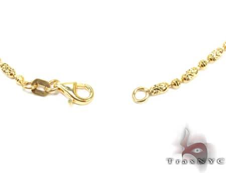 Thin Moon Cut Chain 18 Inches 2mm 6.2 Grams Gold