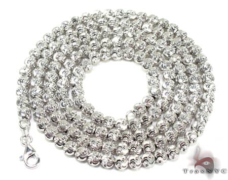 Moon Cut Chain 20 Inches 3mm 16.3 Grams Gold
