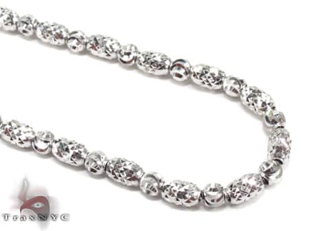 Thin Moon Cut Chain 20 Inches 2mm 12.9 Grams Gold