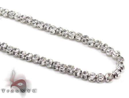 Moon Cut Chain 22 Inches 3.5mm 12.9 Grams Gold