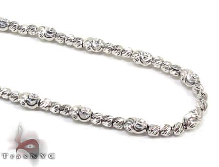 Thin Moon Cut Chain 22 Inches 2mm 11.6 Grams Gold
