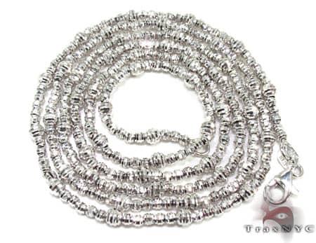 Thin Moon Cut Chain 20 Inches 2mm 8.6 Grams Gold