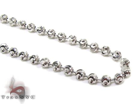 Tiny Moon Cut Chain 30 Inches 1.5mm 11.7 Grams Gold