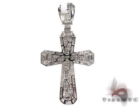 Small White Gold Aristocrat Cross Diamond