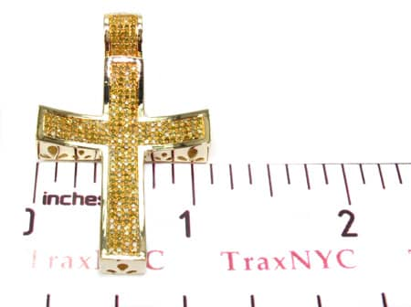 Small Canary Concave Cross Diamond