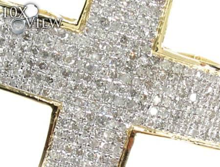 Yellow Gold Ultra Cross Diamond