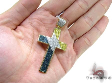 Tri Color Ultra Cross Crucifix Diamond