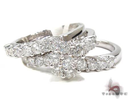 Diamond Ring Set 19861 Engagement