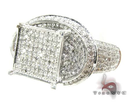 White Gold Avalanche Ring 19920 Anniversary/Fashion