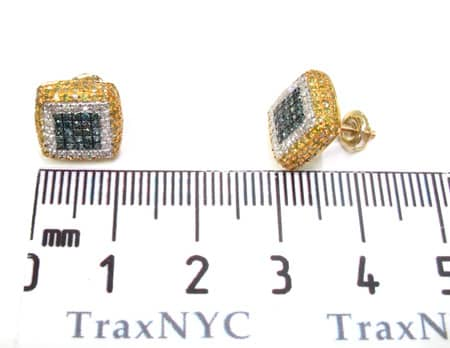 Mens Diamond Earrings 19949 Stone
