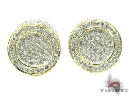 Mens Diamond Earrings 19952 Stone