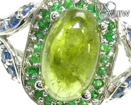 Ladies Silver Gemstone Ring 19958 Anniversary/Fashion