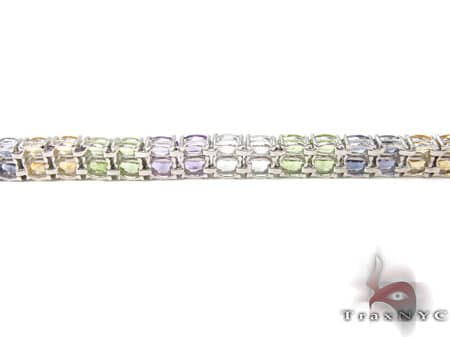 Ladies Silver Gemstone Bracelet 19972 Silver & Stainless Steel
