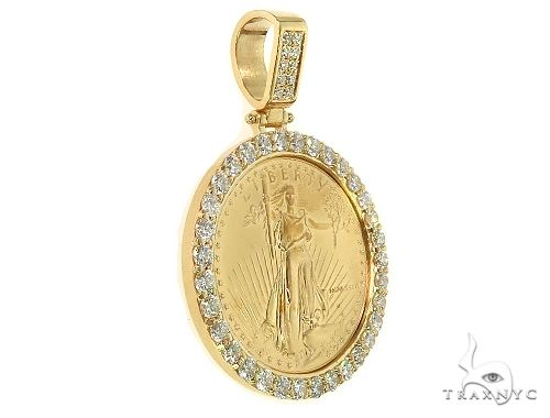 US Mint American Liberty 1oz Gold Coin With 18K Diamond Bezel 66063 Metal