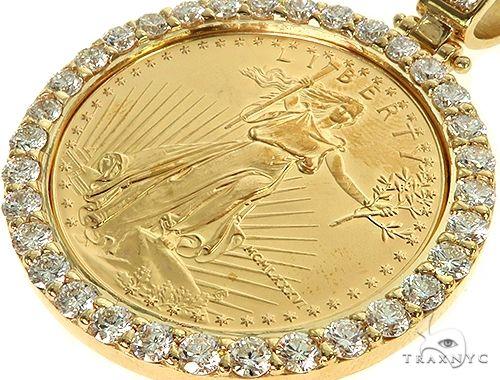 US Mint American Liberty 1oz Gold Coin With 18K Diamond Bezel 66063 Metal