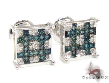 2 Color Diamond Earrings 21732 Stone