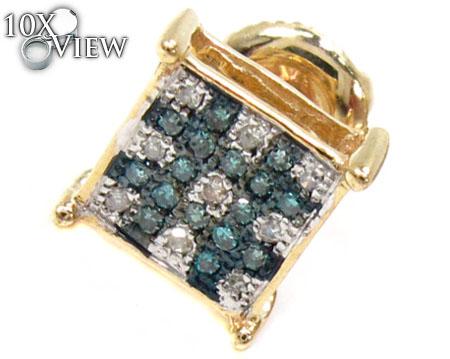2 Color Diamond Earrings 21739 Stone