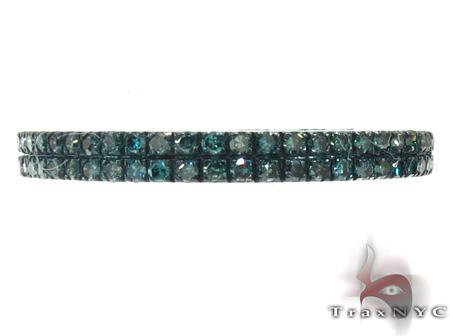 2 Row Blue Diamond Ring 20447 Anniversary/Fashion