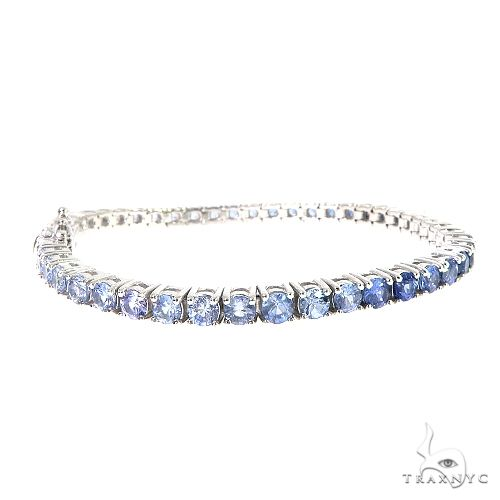 20 Pointer Water Sapphire Tennis Bracelet 67051 Multicolor SAPPHIRE