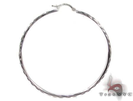 Sterling Silver Hoop Earrings 20030 Metal