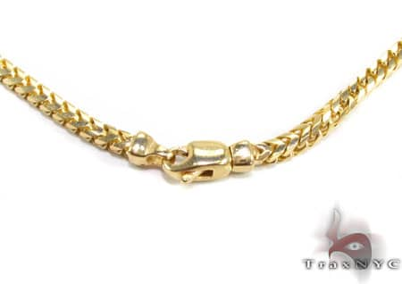 14K Yellow Gold Franco Chain 36 Inches 3mm 50 Grams Gold