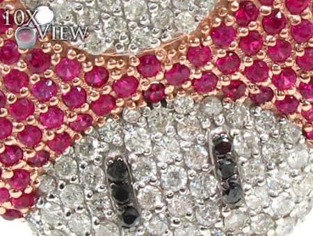 Custom Jewelry - Super Mushroom Diamond Pendant 20122 Metal