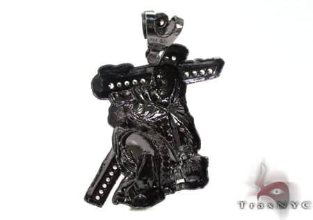 Black Silver Crucifix Crossion Pendant 20237 Metal
